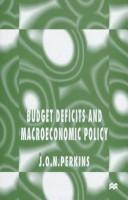 Cover of: Budget deficits and macroeconomic policy