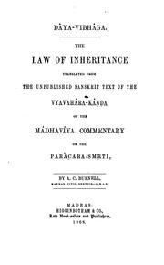 Cover of: Dâya-vibhâga