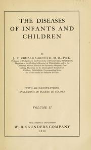Cover of: The diseases of infants and children