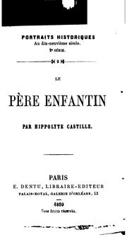 Cover of: Le père Enfantin
