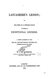 Cover of: Lancashire's lesson