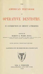 Cover of: The American text-book of operative dentistry