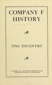 Cover of: Company F history, 319th Infantry
