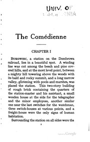 Cover of: The comédienne: Translated from Polish by Edmund Obecny. Frontispiece by Frederick Dorr Steele.
