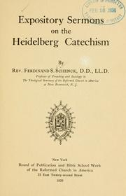 Cover of: Expository sermons on the Heidelberg catechism