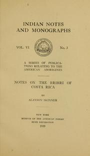 Cover of: Notes on the Bribri of Costa Rica