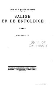 Cover of: Salige er de enfoldige
