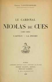 Cover of: Le cardinal Nicolas de Cues (1401-1464)