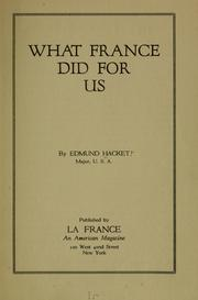 Cover of: What France did for us