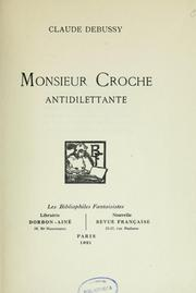 Cover of: Monsieur Croche, antidilettante