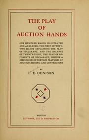 Cover of: The play of auction hands