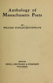 Cover of: Anthology of Massachusetts Poets