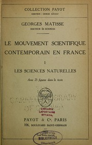 Cover of: Le mouvement scientifique contemporain en France