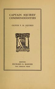 Cover of: Captain Squires' commonoddities