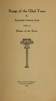 Cover of: Songs of the glad years