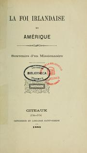 Cover of: La foi irlandaise en Amérique