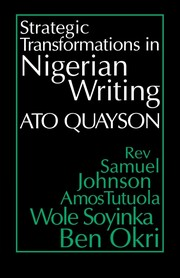 Cover of: Strategic transformations in Nigerian writing