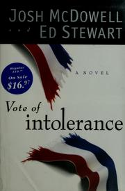 Cover of: Vote of intolerance: A Novel