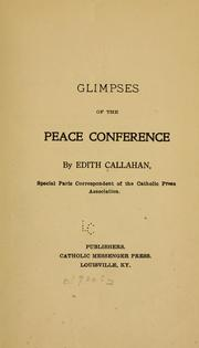 Cover of: Glimpses of the Peace conference