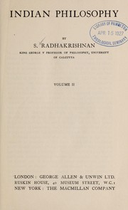 Cover of: Indian philosophy