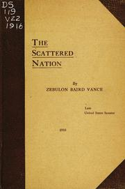 Cover of: The scattered nation