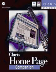 Cover of: Claris home page companion