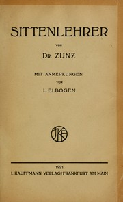 Cover of: Sittenlehrer