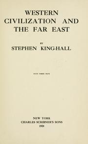Cover of: Western civilization and the Far East