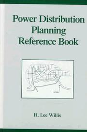 Cover of: Power distribution planning reference book