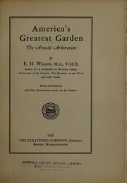 Cover of: America's greatest garden