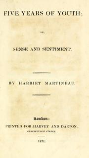 Cover of: Five years of youth, or, Sense and sentiment