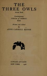 Cover of: The three owls