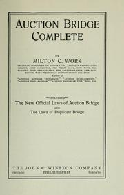 Cover of: Auction bridge complete