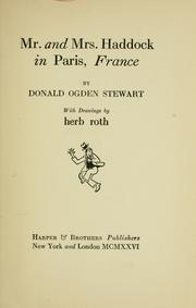 Cover of: Mr. & Mrs. Haddock in Paris, France