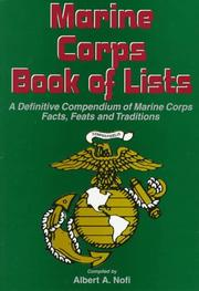 Cover of: The Marine Corps book of lists