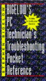 Cover of: Bigelow's PC technician's troubleshooting pocket reference