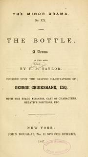 Cover of: The bottle: a drama