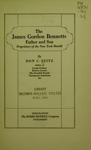 Cover of: The James Gordon Bennetts, father and son