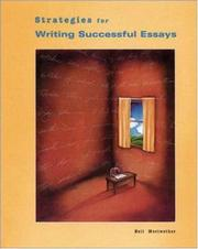 Cover of: Strategies for writing successful essays