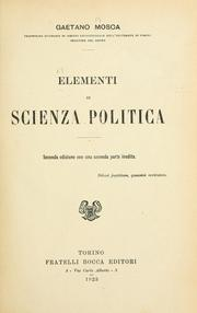 Cover of: Elementi di scienza politica
