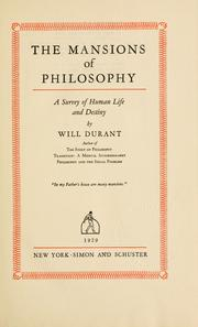 Cover of: The mansions of philosophy
