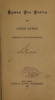 Cover of: Hymns pro patria and other hymns
