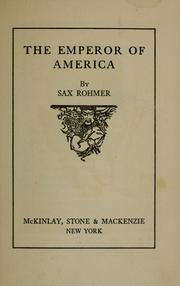 Cover of: The emperor of America
