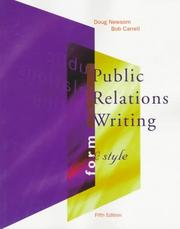 Cover of: Public relations writing: form and style
