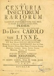 Cover of: Centuria insectorum rariorum ..