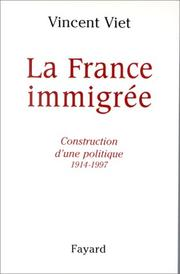 Cover of: La France immigrée