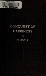 Cover of: The conquest of happiness