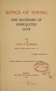 Cover of: Songs of spring and Blossoms of unrequited love