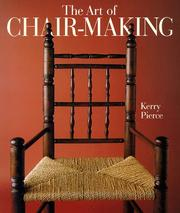 Cover of: The art of chair-making