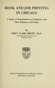 Cover of: Book and job printing in Chicago